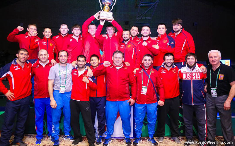 World Cup 2017 Russia Wrestling Award ceremony