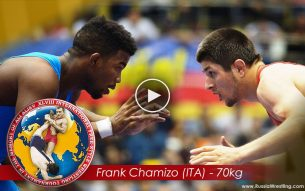 The Italian Stallion Frank Chamizo won the World Champion 2015 at the 70kg Wrestling Finals